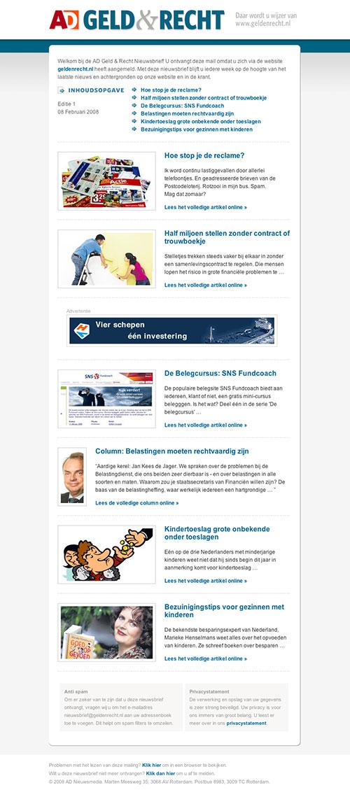 AD Geld & Recht E-mail newsletter