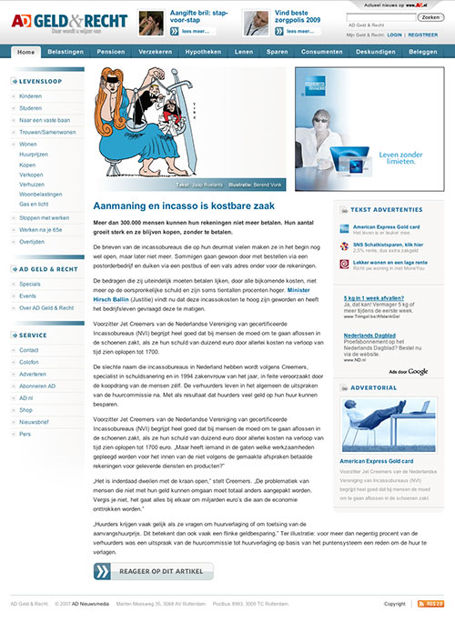 AD Geld & Recht Website article