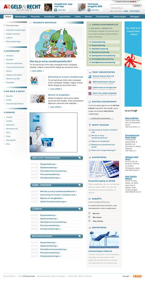 AD Geld & Recht Website sectie