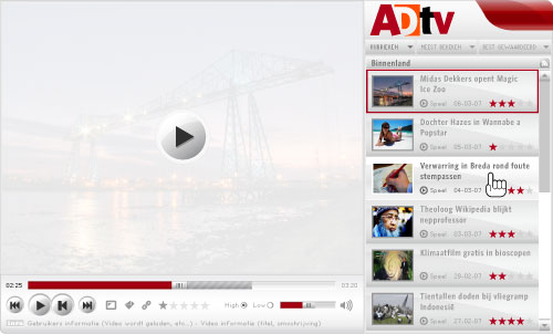 ADTV Fullsize video player