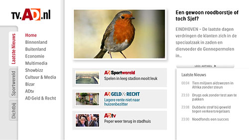 Internet TV - AD.nl home