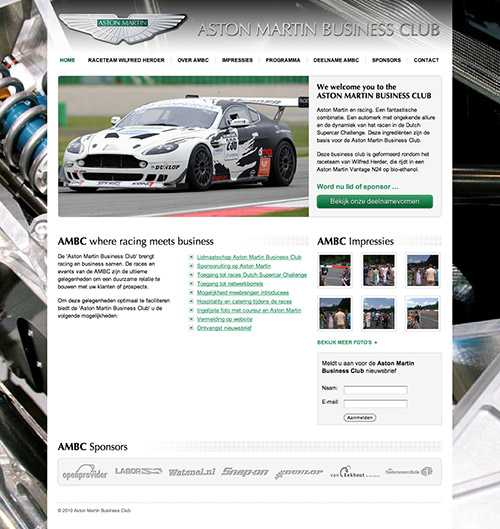 Aston Martin Businessclub Homepage