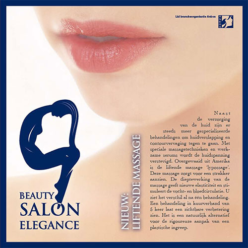 Beauty Salon Elegance Flyer square back