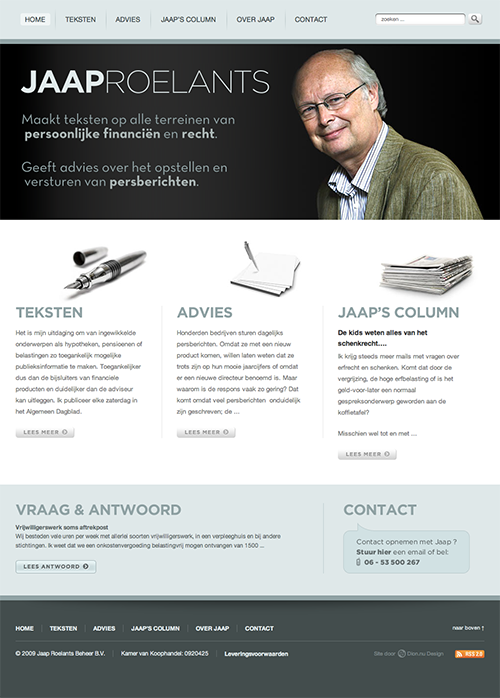 Jaap Roelants Website -  Homepage