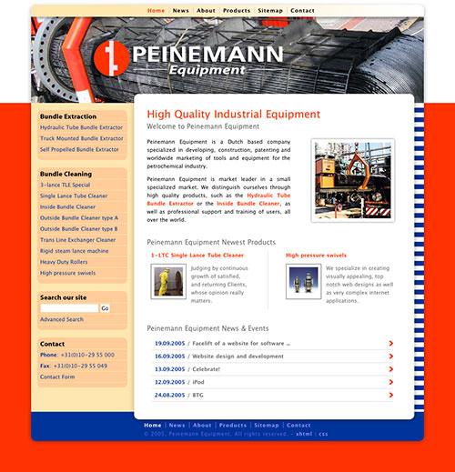 Peinemann Equipment Website