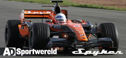 AD Sportwereld sponsors Spyker