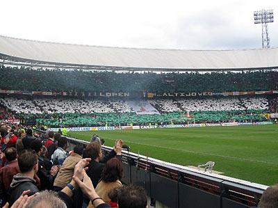 Feyenoord - Ajax tifo actie
